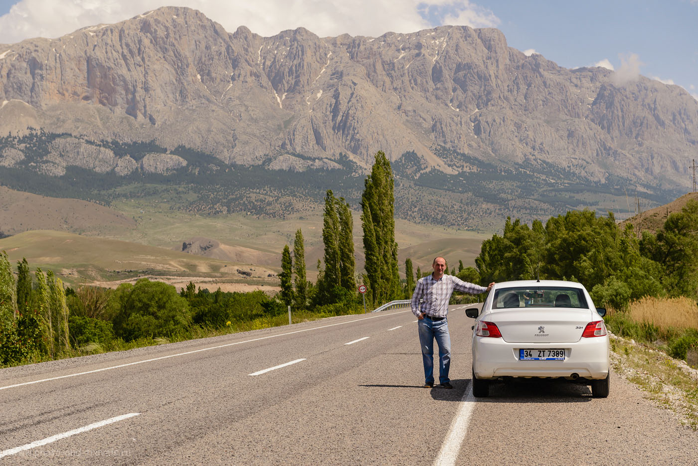 Фото 21. Невероятно красивые пейзажи на пути из Каппадокии к побережью Средиземного моря в Турции. 1/125, 0.33, 8.0, 70.