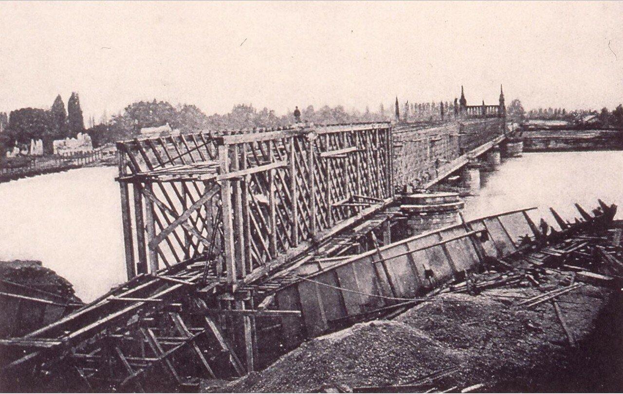 Разрушенный мост через Рейн