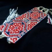 Широкий плетеный браслет