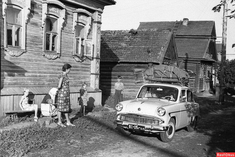 Гости приехали. 1967 год. Горьковская обл, Городецкий р-н. Фото Аристова В.Н..jpg