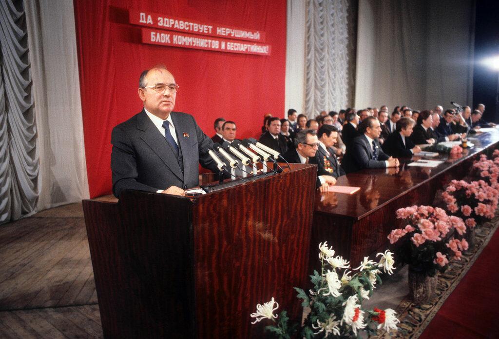 Михаил Горбачев в Барнауле, 1980 год
