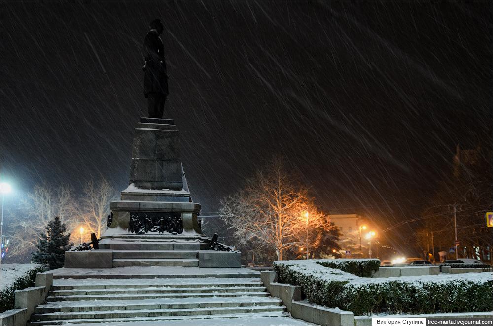 Снег в Севастополе