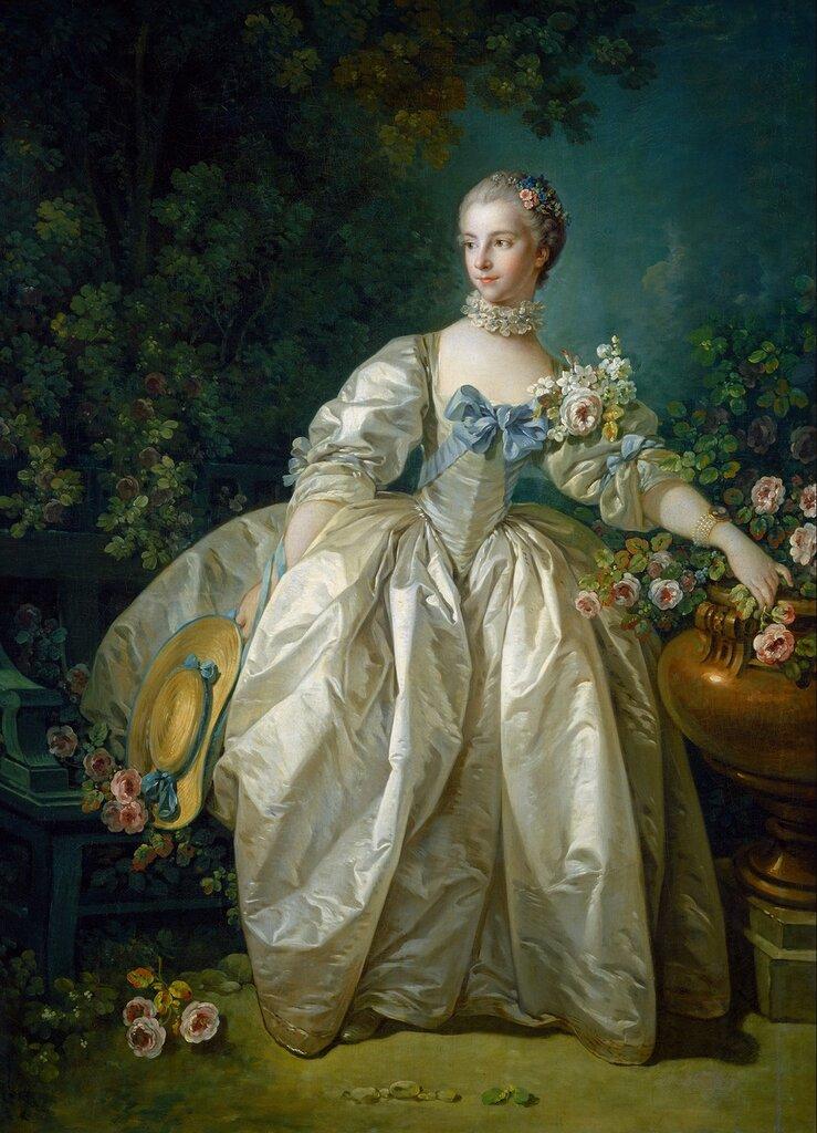 125.Мадам Бержере (ок.1766) (143.5 x 105.4) (Вашингтон, Национ. галерея).jpg
