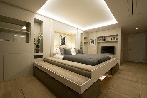 Скрытая выдвижная кровать