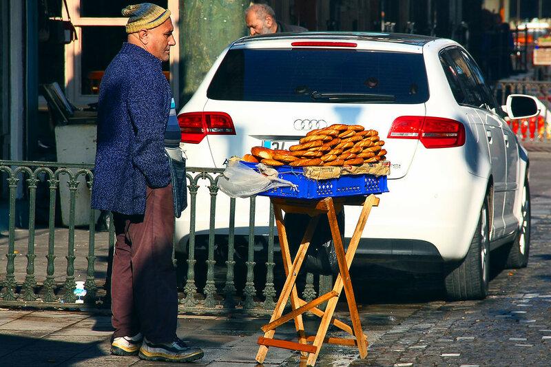 продавец бубликов