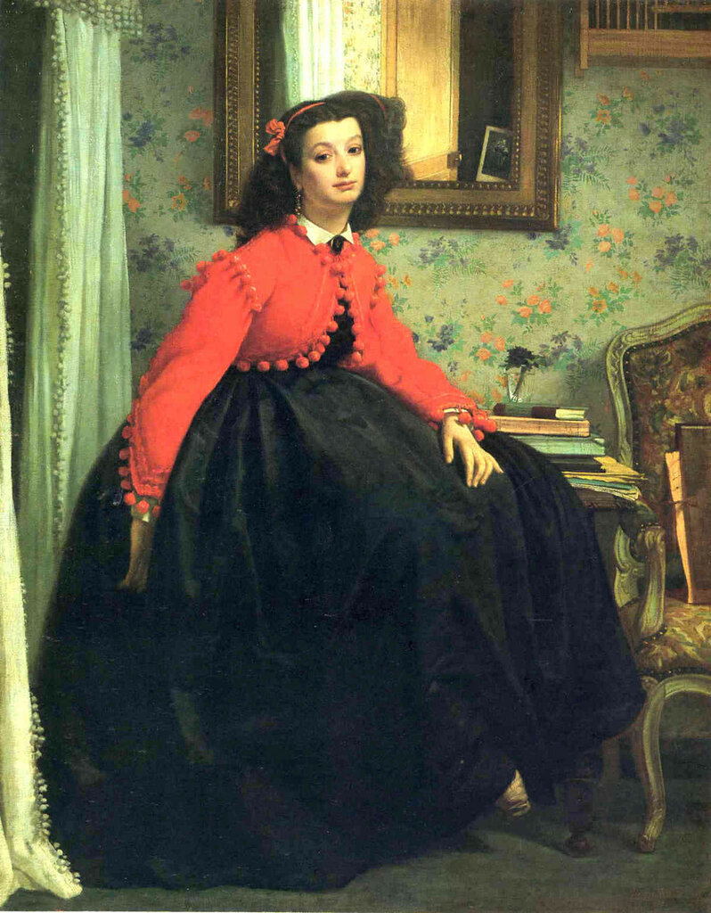 Portrait of Mademoiselle L. L. (also known as Young Woman in a Red Jacket), 1864.jpg