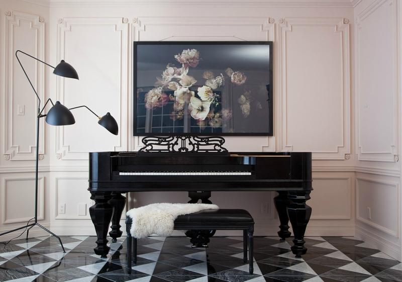 Пианино и рояль в дизайне интерьера фото 6