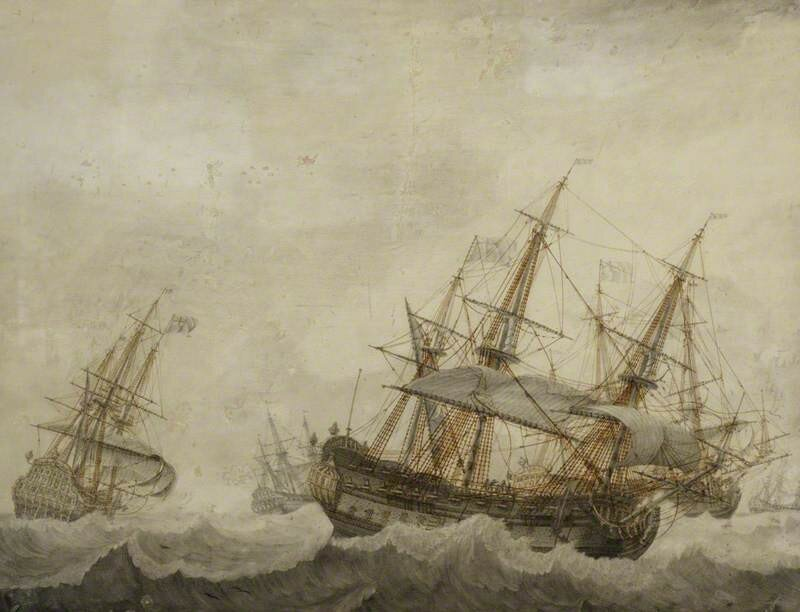 English Men-of-War in a Strong Breeze