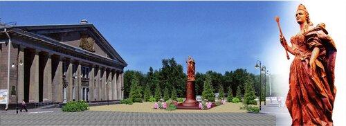 луганск памятник екатерине второй оптимизация оптимизма