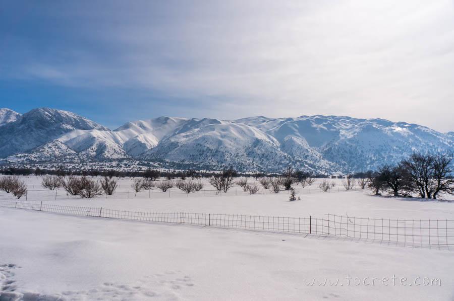 Заснеженное плато Омалос | Snowy plateau Omalos