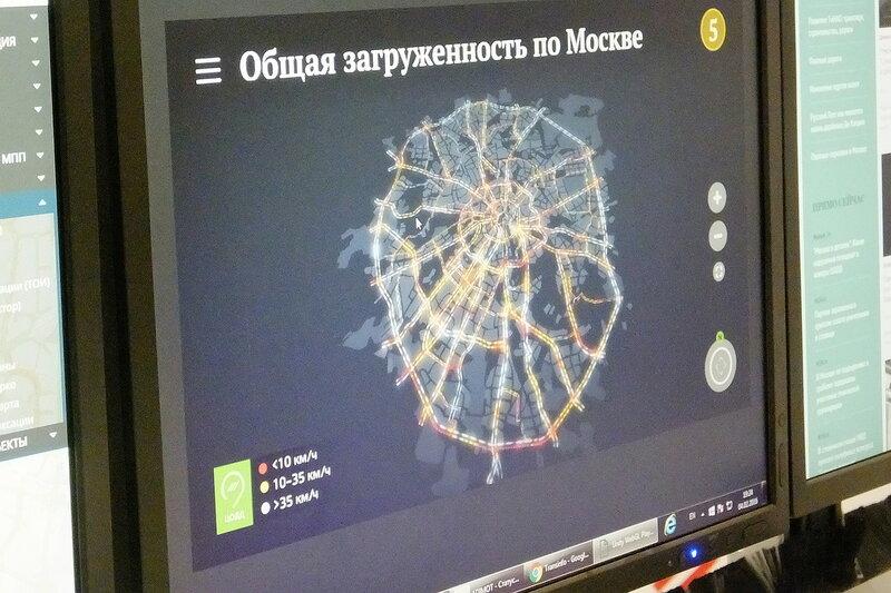 Карта общей загруженности по Москве