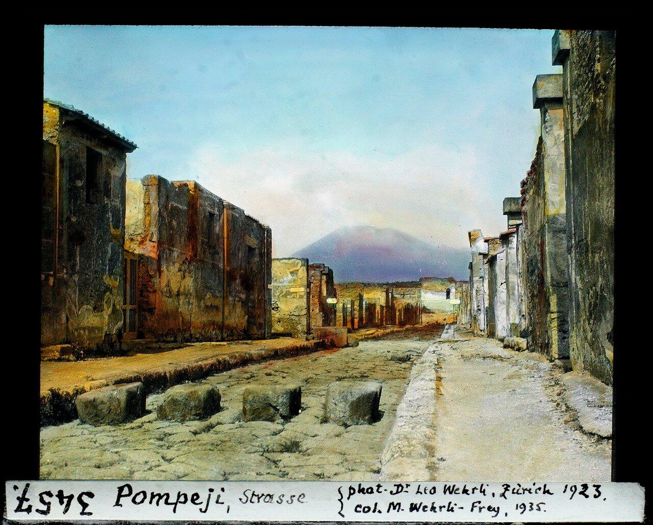 1923. Улица в Помпеях