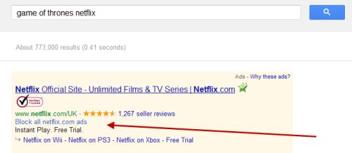 Блокировка нежелательной рекламы в поиской выдаче Google