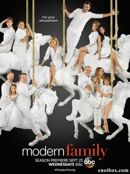 Семейные ценности / Американская семейка / Modern Family - Полный 7 сезон [2015, WEB-DLRip | WEB-DL 1080p] (LostFilm)