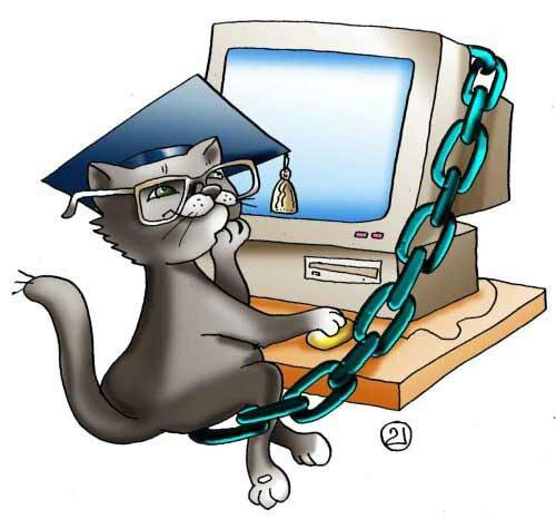 интернет, кот ученый