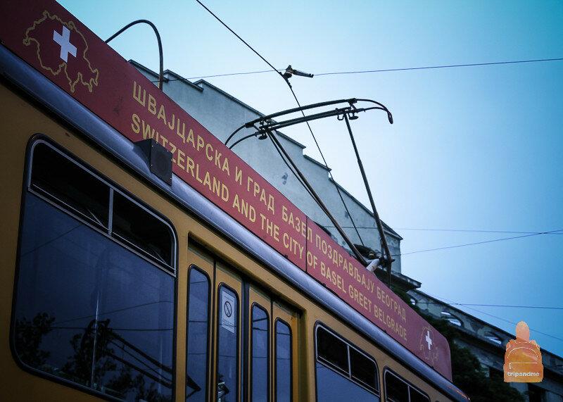Старый трамвай в Белграде
