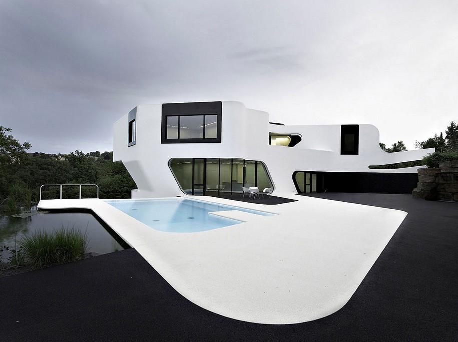 Необычный дом Dupli Casa в Германии от J. Mayer H.