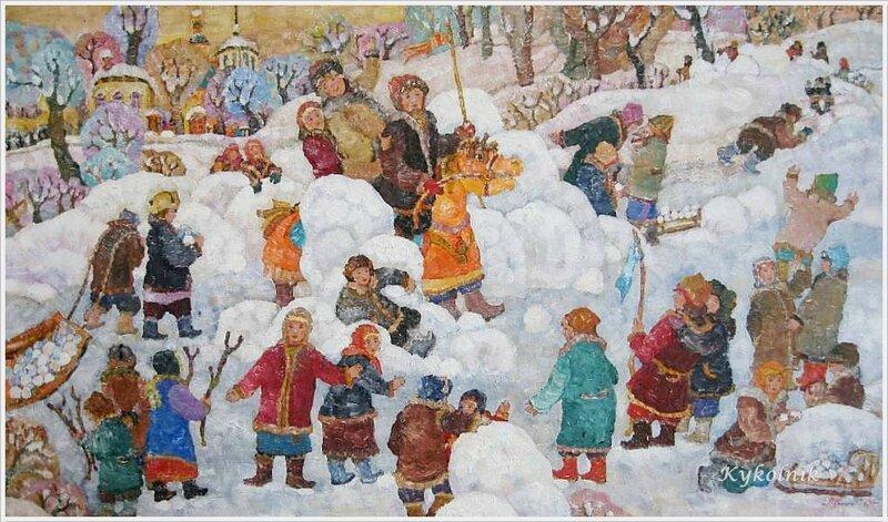 Холин Дмитрий Аркадьевич (Россия, 1970) «Взятие снежного городка»