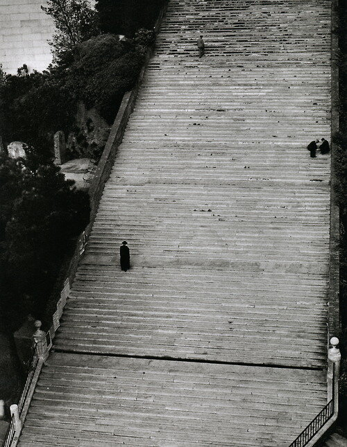 Stairway to Heaven.Rome, Italy, 1949