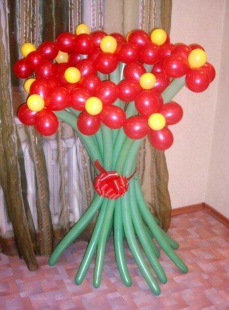 Букеты из воздушных шаров.