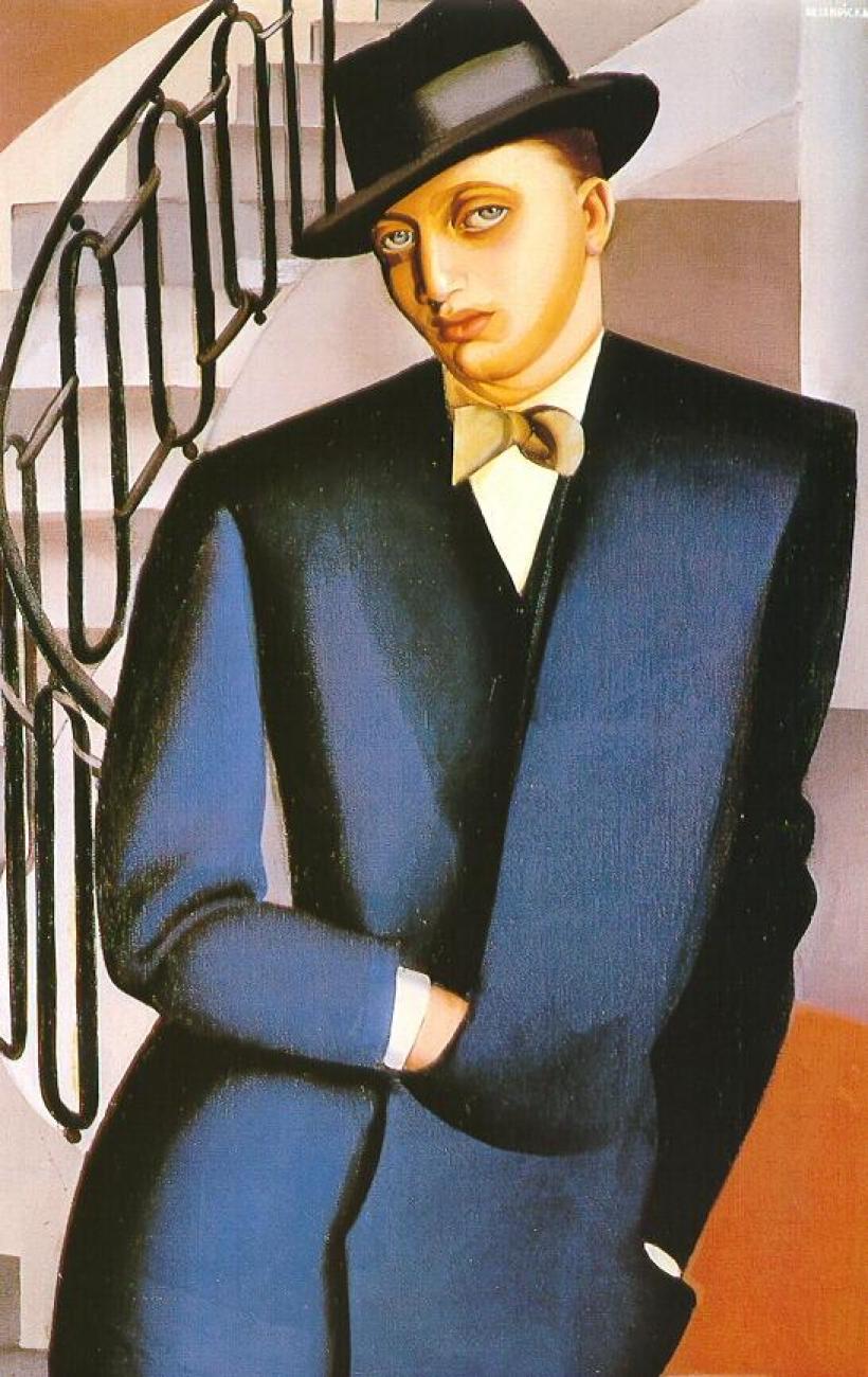 Маркиз д'Аффлито на лестнице<br ></img>Тамара де Лемпицка · 1926