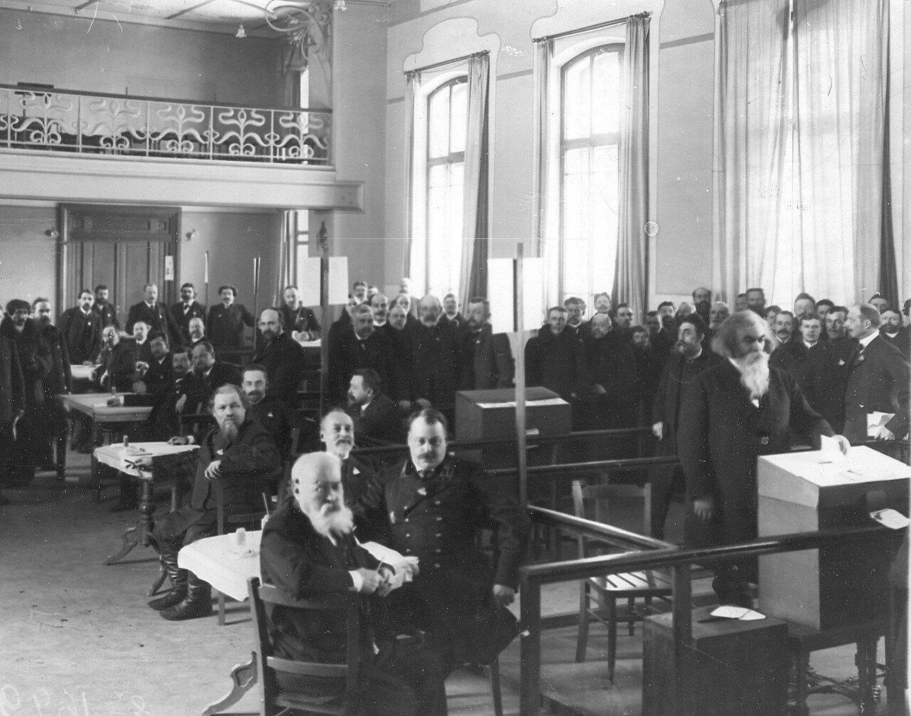 20 марта 1906. Выборы выборщиков в Первую Государственную думу в Народном доме Л.Н.Нобеля