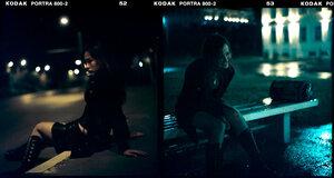 девушка город ночь портрет Misty