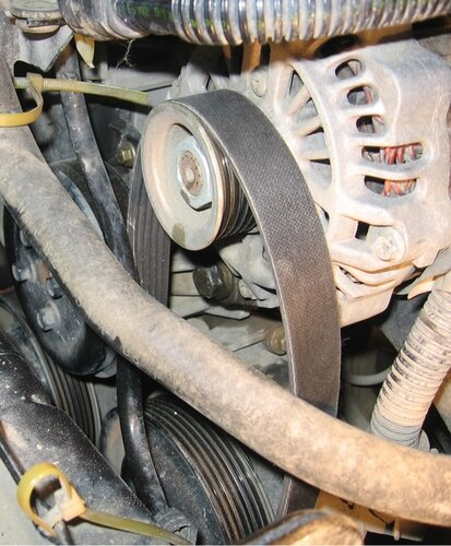 Замена ремня навесного оборудования — бортжурнал ford transit.