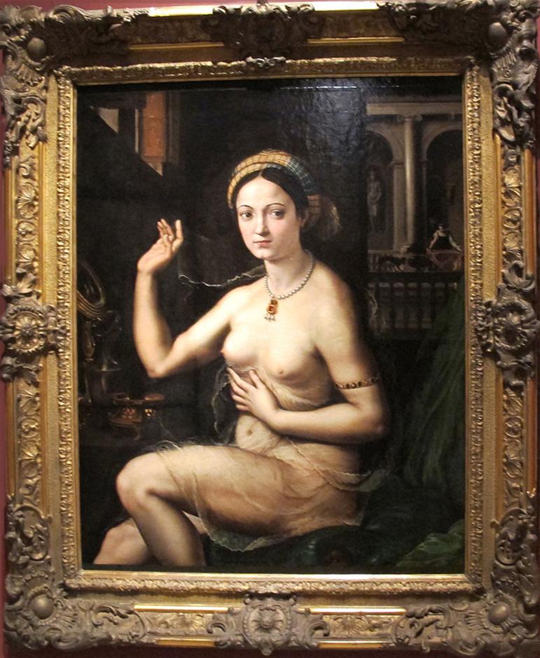 Дама за туалетом ок. 1520. Джулио Романо(1499-1546)