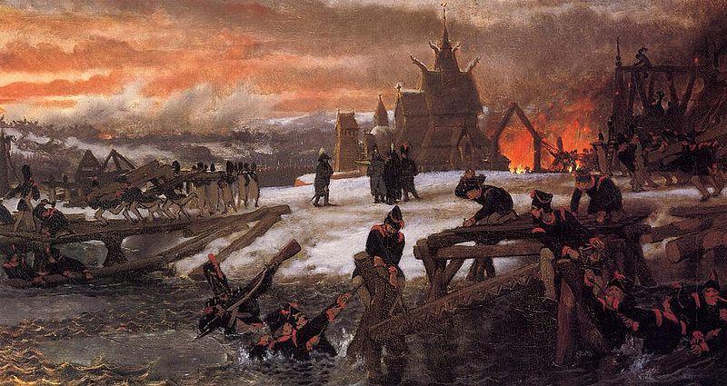 LAWRENCE ALMA-TADEMA Строителство наполеоновской армией переправы через Березину