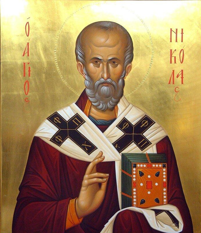 Святитель Николай, Архиепископ Мир Ликийских, Чудотворец. Иконописец Александр Рудой.