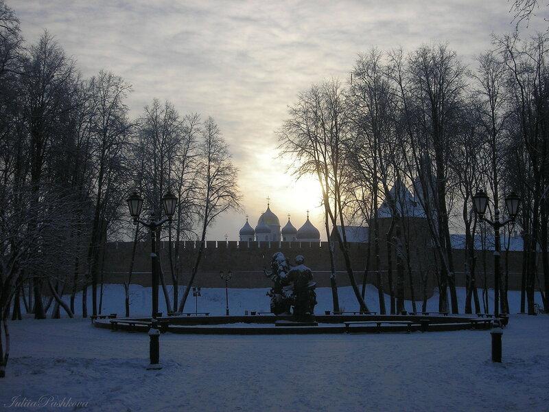 Великий Новгород, Рождество, Мороз и солнце день чудесный!