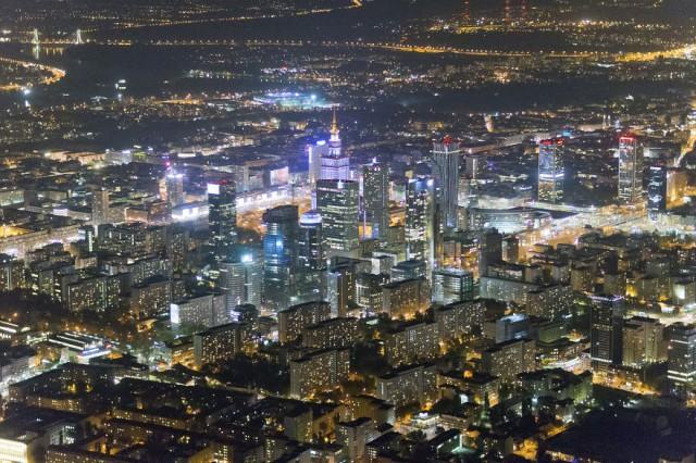 Фото Варшавы с высоты 900 метров!