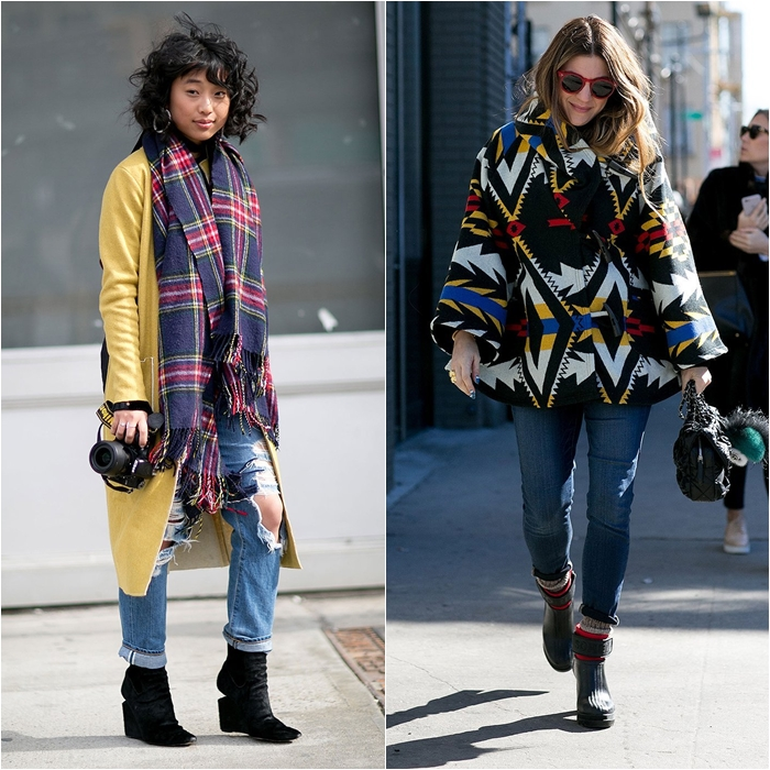 How to Wear Jeans with a Coat: Street Style picture 1
