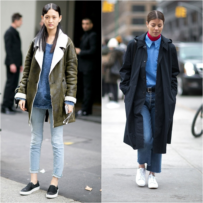 How to Wear Jeans with a Coat: Street Style picture 14