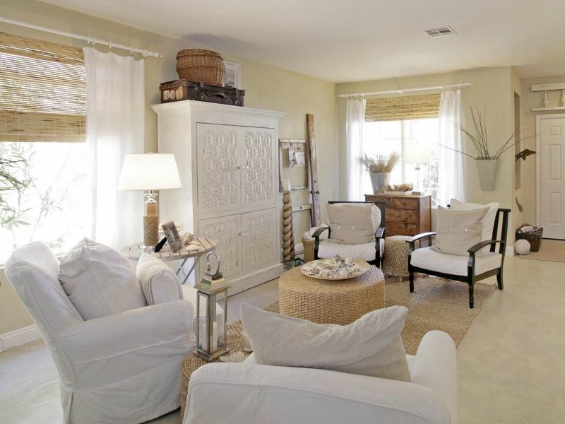 Дизайн интерьера гостиной в светлых оттенках фото 2