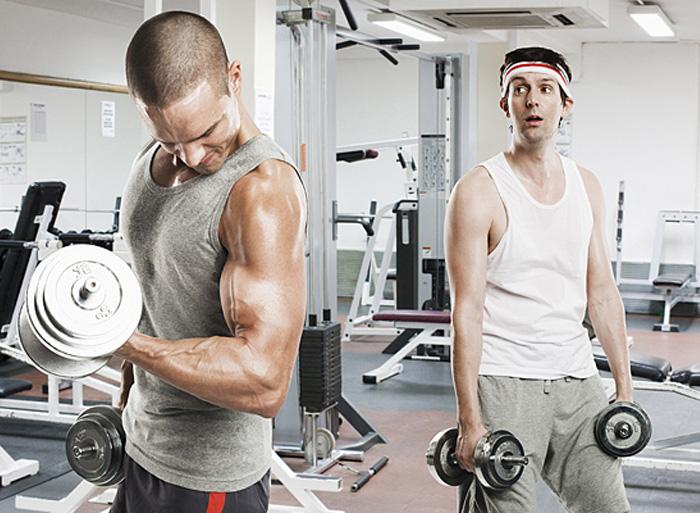 Хожу на фитнес и набираю вес