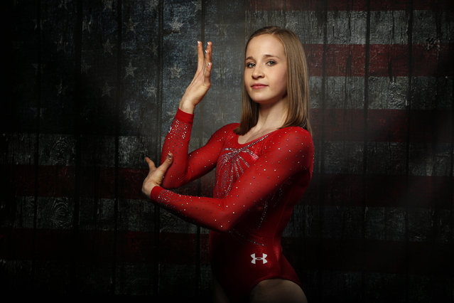 Gymnast Madison Kocian poses for a portrait at the U.S. Olympic Committee Media Summit in Beverly Hi
