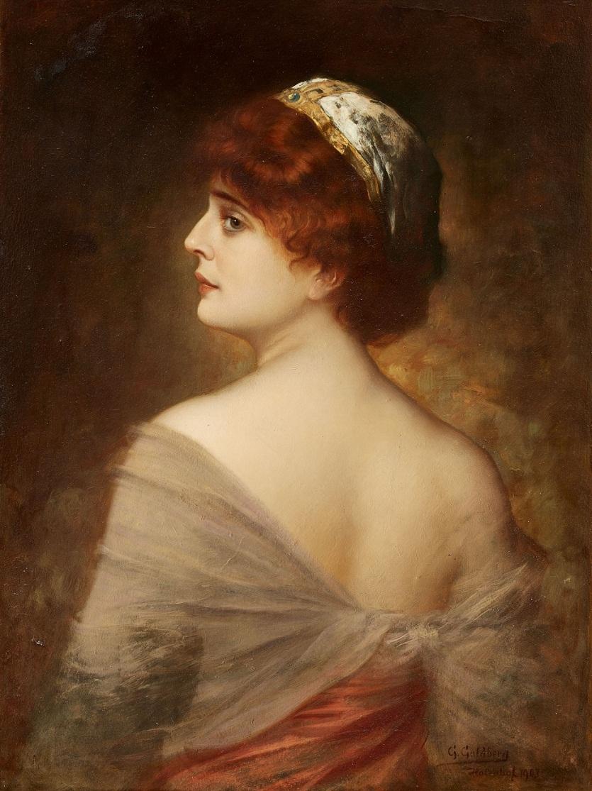 Gustav Adolf Goldberg Немецкий художник (19 июня 1848-8 мая 1911 г.)