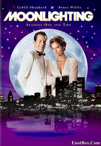 """Детективное Агентство """"Лунный свет"""" (1-5 сезоны: 1-66 серии из 66) / Moonlighting / 1985-1989 / ПМ / DVDRip / Moonlighting (1985)"""
