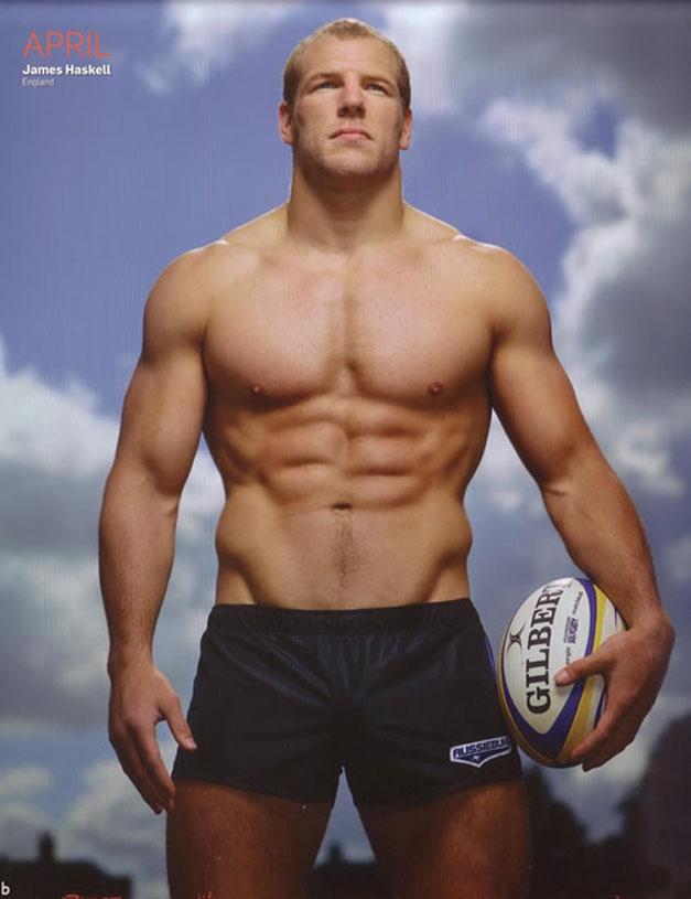 Календарь английских регбистов / Rugby-s Finest 2012 calendar - James Haskell