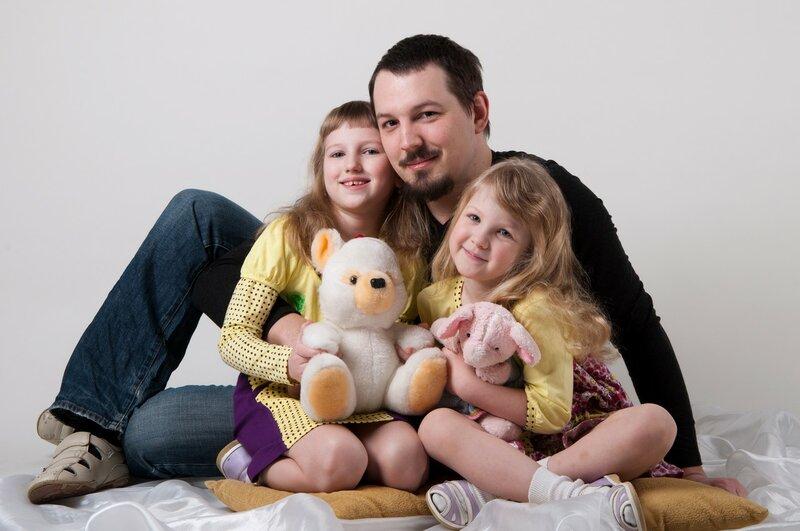 Я и дети— Настя и Галя