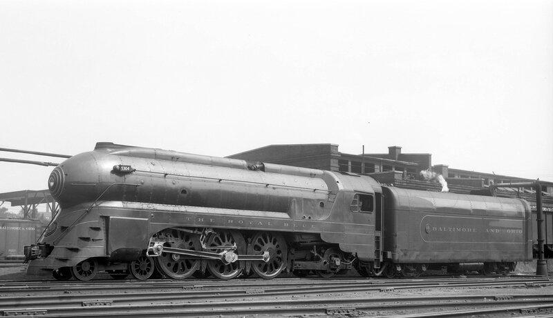 Baltimore & Ohio locomotive 'The Royal Blue', engine number 5304, engine type 4-6-2, Washington D.C., August 3, 1939