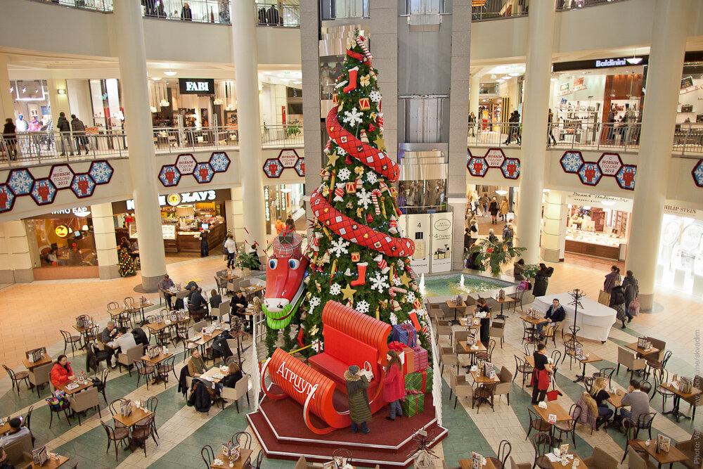 Новогодняя ёлка в торговом центре «Атриум»