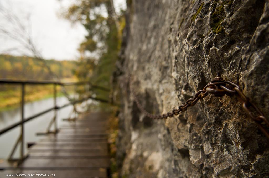 Снимок 16. Оленьи ручьи. Отзывы. Цепь у скалы... Почувствуй себя Прометеем...