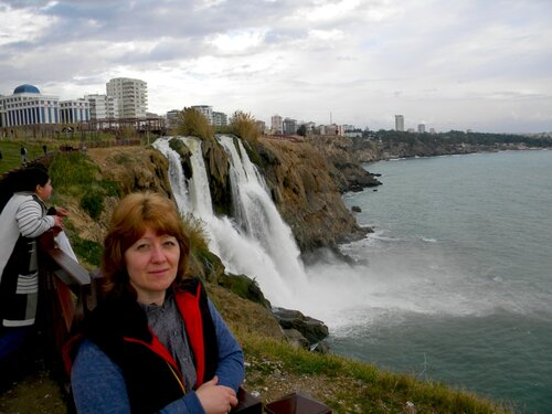 Елена Воронова (водопад Лара- Анталия)