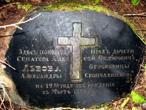 Прах дочери Львова Алексея Федоровича