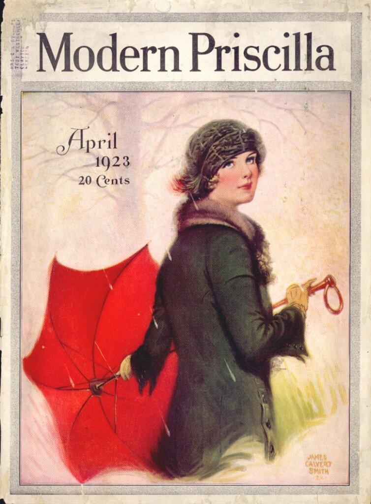 Modern Priscilla Magazine Cover - April 1923