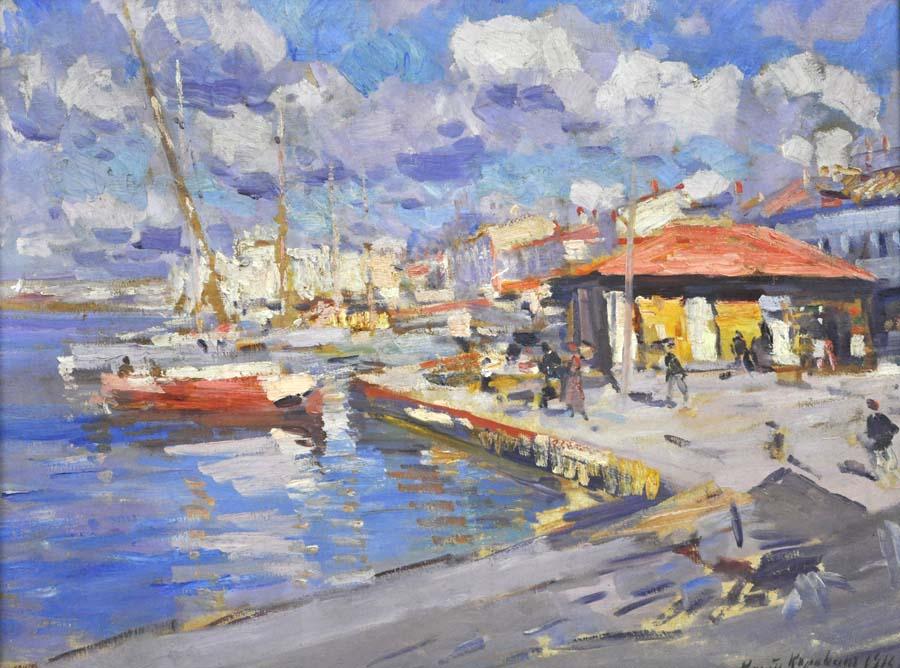 Коровин. Севастополь. Рыбачья бухта 1916 900.jpg