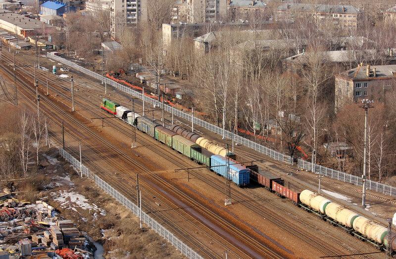 ЧМЭ3-6004 работает с вагонами